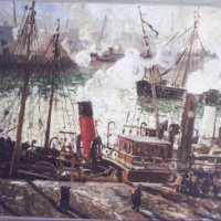 Trawlers Coaling, Boulogne